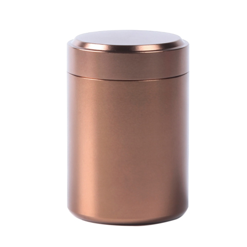 Tea Caddy Mini Aluminum Storage Boxes Sealed Coffee Cans Tea Portable Container Metal Travel Organize Storage Bottles Jars