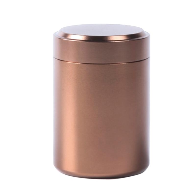 Tea Caddy Mini Aluminum Storage Boxes Sealed Coffee Cans Tea Portable Container Metal Travel Organize Storage Bottles Jars