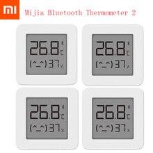 XIAOMI ميزان حرارة رقمي كهربائي ذكي Mijia 2 ، مقياس رطوبة لاسلكي مع Bluetooth ، يعمل مع تطبيق Mijia ، أحدث إصدار