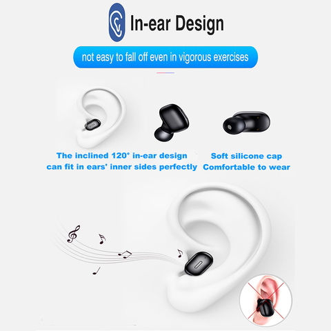 Mini Earbuds T1 TWS 5.0 Wireless Bluetooth Earphones 3D True Wireless Stereo Earbuds with Mic HiFi Cordless Dual Headset HS Ear Karachi
