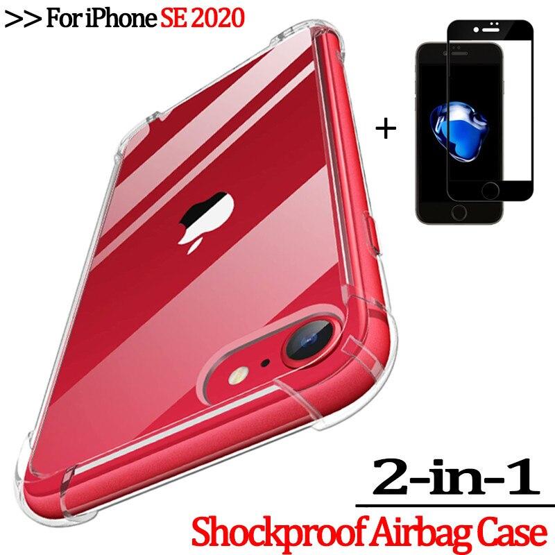 2 en 1 lunettes coque iPhone SE 2020 coque en silicone souple case i Phone11 11Pro