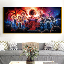 Stranger Things Poster Season Retro TV Movie Oil Painting on Canvas Posters Prints Cuadros Wall Art Pictures For Living Room gringo movie poster posters