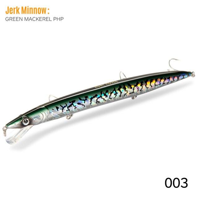 Long Casting Minnow Fishing Lure Floating Slim 143 208mm Jerk Bait Tackle Gear