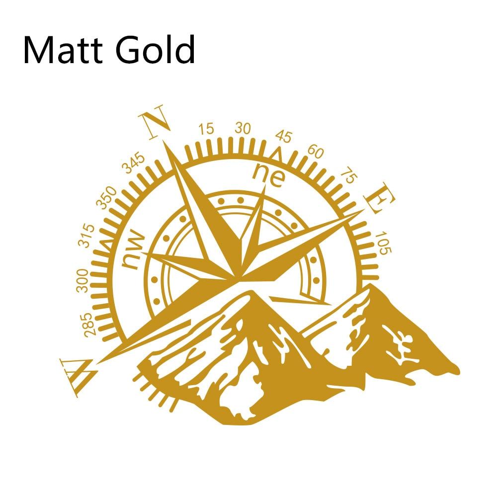 Боковые наклейки для автомобильной двери, виниловая пленка, авто украшение, наклейка для водонепроницаемого внедорожника, Ford Chevy, Стайлинг, автомобильные тюнинговые аксессуары - Название цвета: Matt Gold