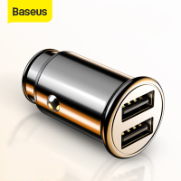 Baseus 30W Metal Car Charger for Samsung AFC Quick Charge 4.0 for Xiaomi Huawei SCP Auto Type C PD Fast Car Mobile Phone Charger