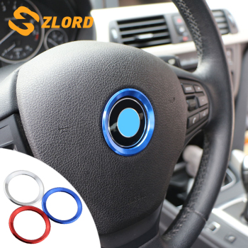 Zlord Car Styling Decoration Ring Steering Wheel Trim Circle Sticker for BMW M3 M5 E36 E46 E60 E90 E92 F48 F30 X1 F48 X3 X5 X6 image