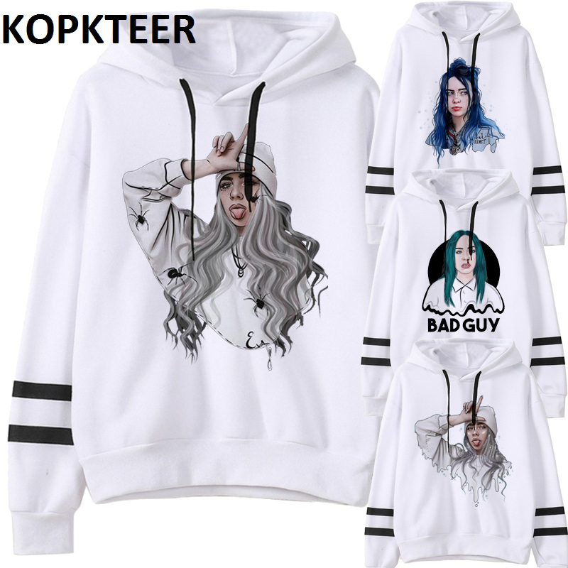 Billie Eilish Hoodie Women Men's Clothing Tops Hoodies Fashion Pullover Thick Funny Hip Pop Femme Gothic Hoodied Vintage Clothes