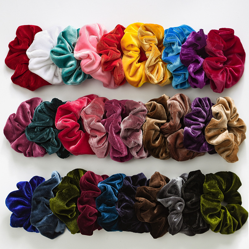 H04a4b0db291840028156efb3eb8ac9c22 - Vintage scarf, bowknot Women Hair Ponytail Holder, Rubber Serpentine Summer headbands Elastic Hair ties for Girls