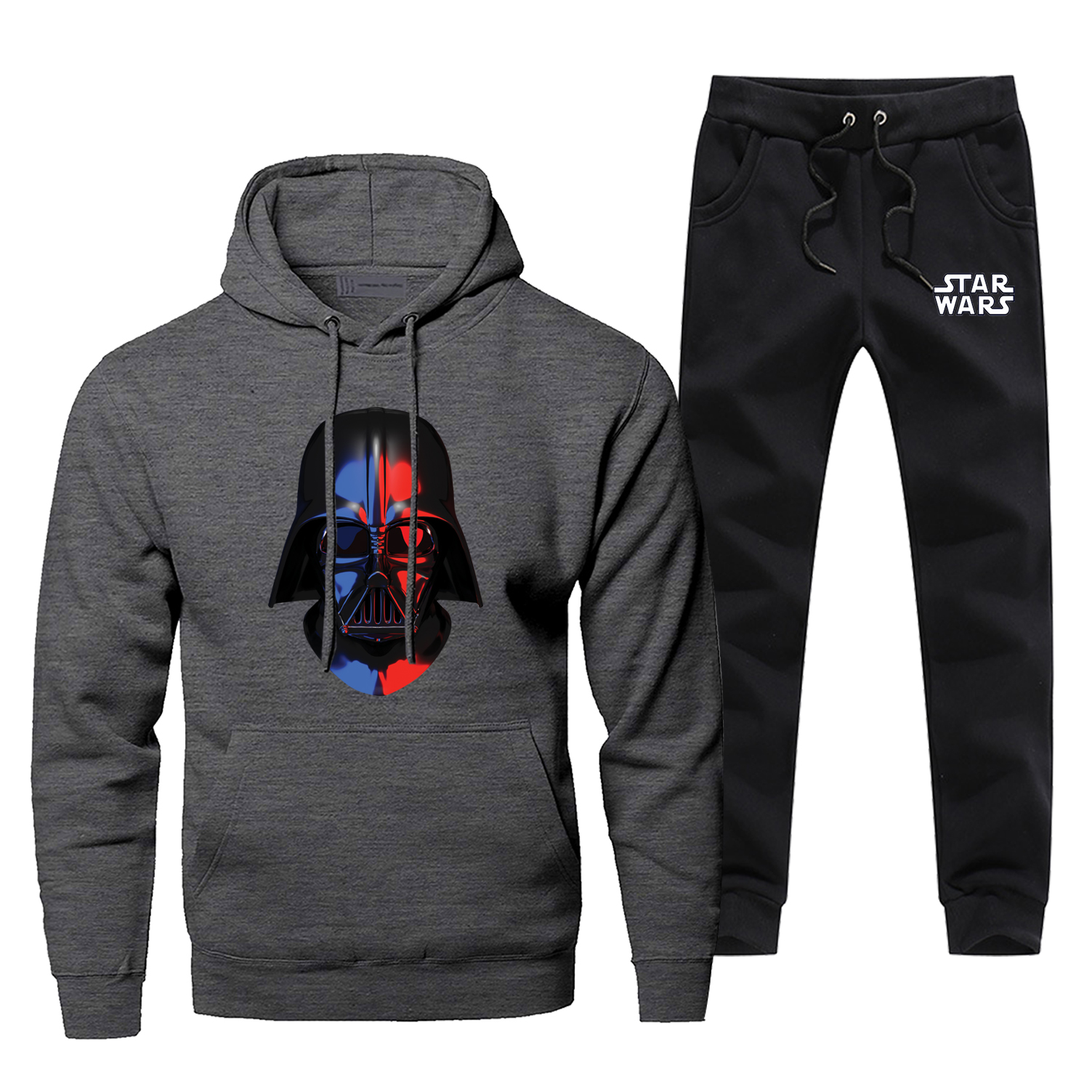 Star Wars Darth Vader Funny Hoodies+pants Two Piece Sets Men Funny Sweatshirt Casual Fleece Sportswear Streetwear Sweatpants