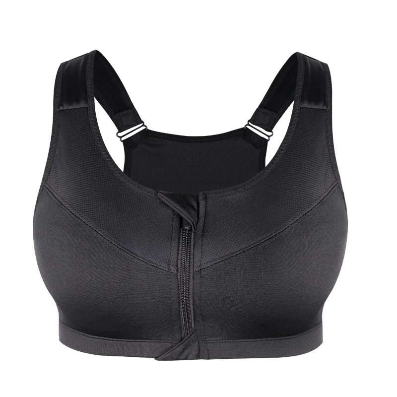 Women's Zipper Push Up Sports Bra 21