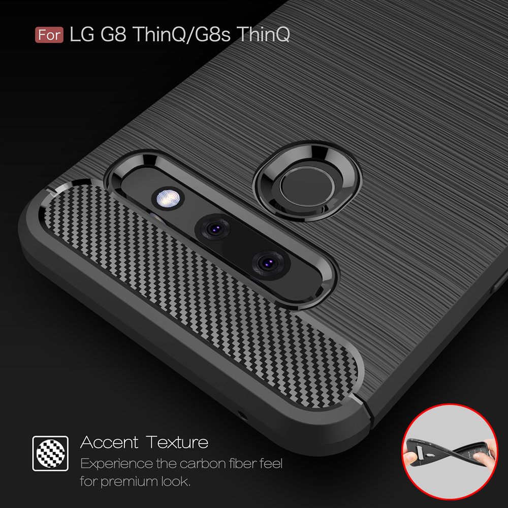 Carbon Fiber Coque Cover 6.1For LG G8 Case For LG G8 G7 G6 Thinq Plus One Fit Dual H870 H871 H872 Phone Back Coque Cover Case