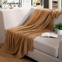 Regina manta respirável de malha lance cobertor pura natureza algodão cobertor para sofá cama viagem super macio decoração para casa colcha