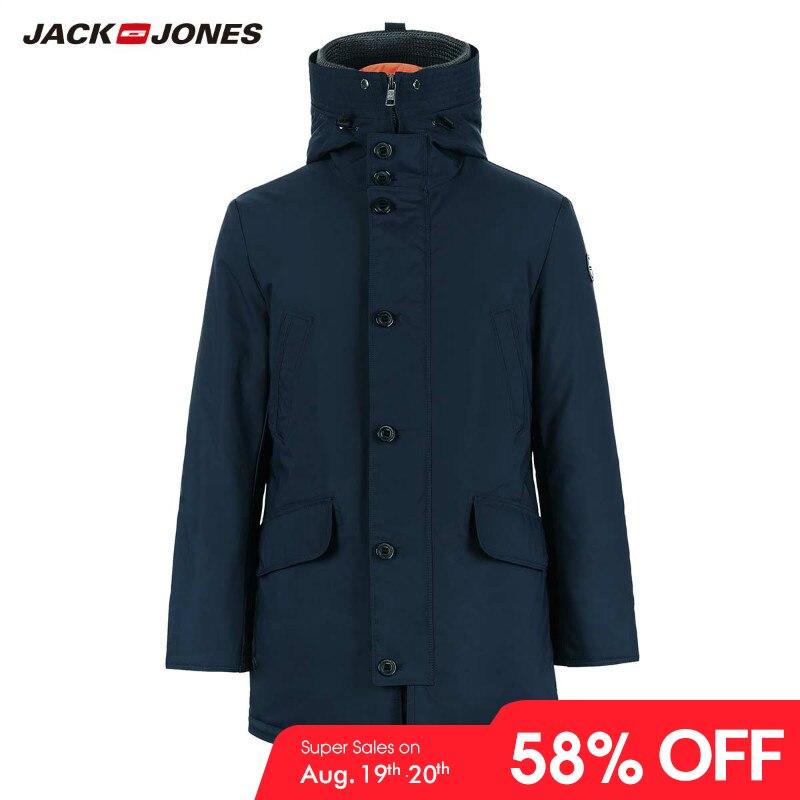 Coat Parka Long-Jacket Menswear Winter Hooded Men's Luxury New 218309511