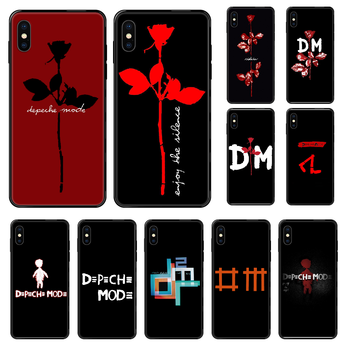 Band Depeches Phone Case Cover Hull For iphone 5 5s se 2 6 6s 7 8 12 mini plus X XS XR 11 PRO MAX black pretty back soft cover image