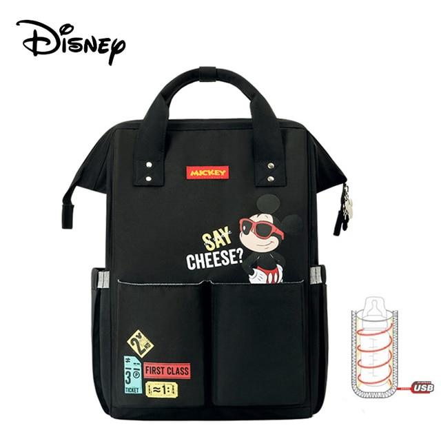 Disney Beige Cartoon Dumbo USB Diaper Bag Backpack Waterproof Maternity/Nappy Bag For Mom Baby Care Mummy Handbags 2020 Luxury