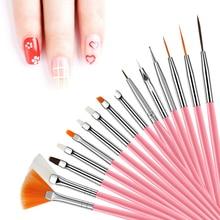Professional Nail Brush For Manicure Gel Brush For Nail Art 15Pcs/Set Nail Brush Acrylic Liquid Powder Carving Gel Brush