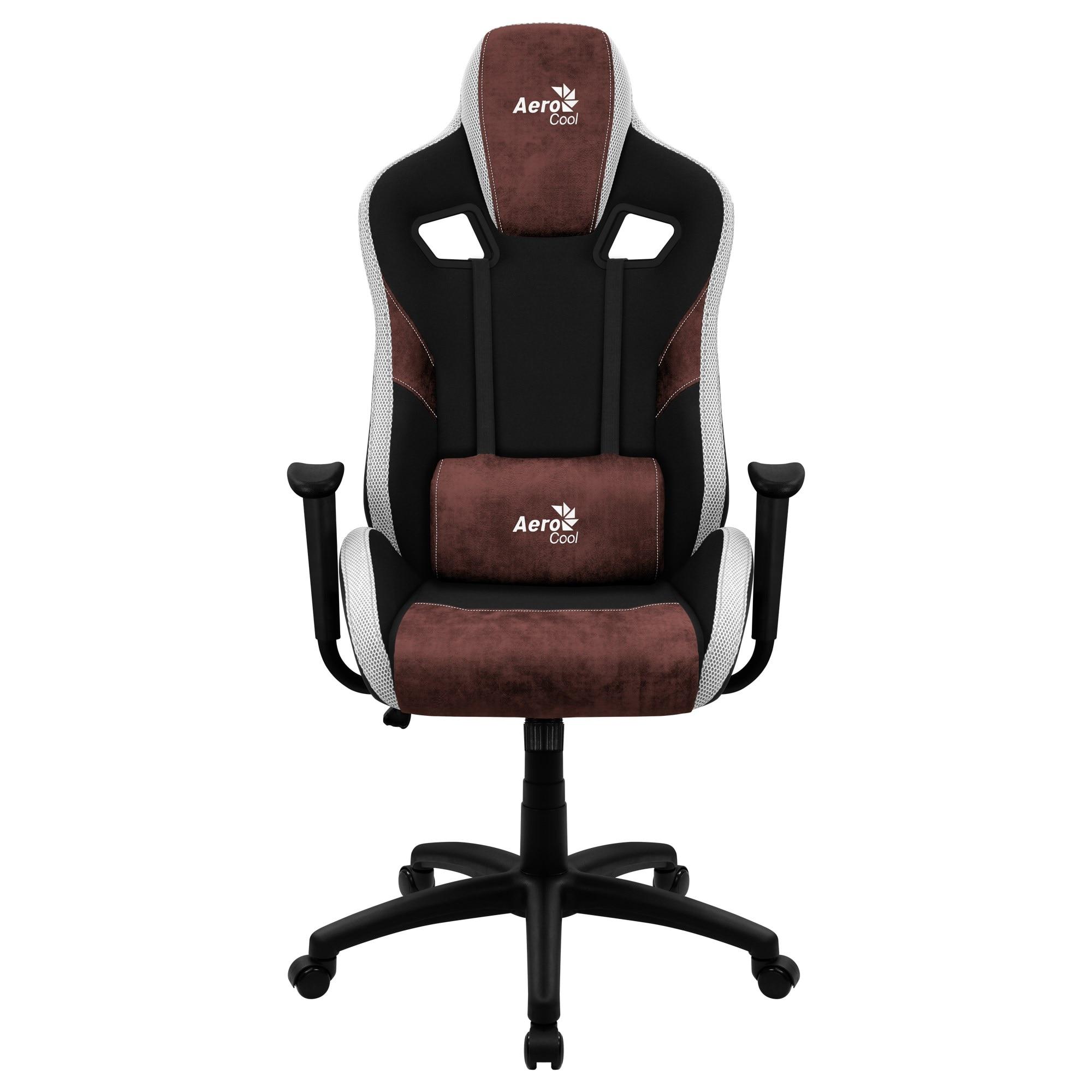 Aerocool COUNT, Gaming Chair, AeroSuede Breathable, Backstop Adjustable, Red