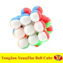 YJ küçük top 3x3 YuanZhu çocuk bulmaca 3x3x3 sihirli küp eğitici oyuncaklar Cubo Magico