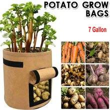Растение сумка картофель рост контейнер сумка сделай сам кашпо полиэтилен ткань посадки овощи садоводство сгущение овощи горшок посадка рост сумка