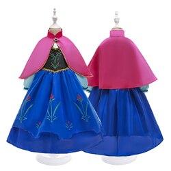 2020 bebê menina anna princesa vestido para meninas halloween carnaval festa cosplay fantasiar-se aniversário traje childen pano 2-10y