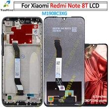 Digitalizador touchscreen para xiaomi redmi note 8 t, peças de reposição para celulares redmi note8t note 8 t lcd