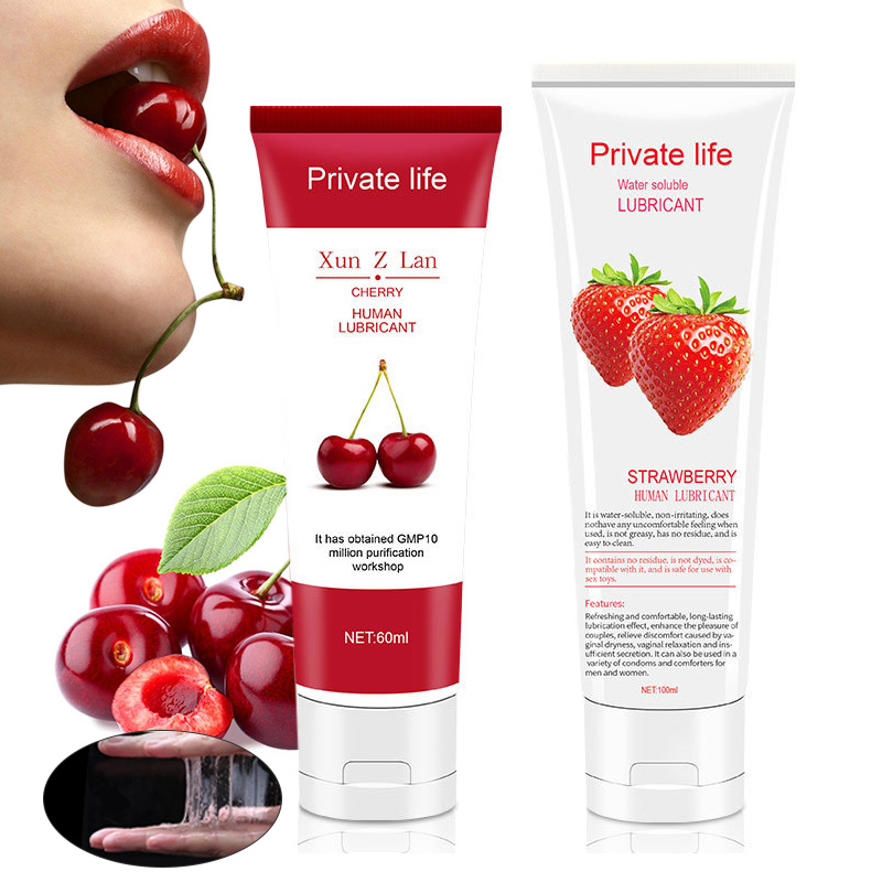 100ml Fruit Flavor Lubricant For Anal Sex Oral Sex Lubricating Oil Adult Sex Products Body Lubricating Gel Love Oils Women Men