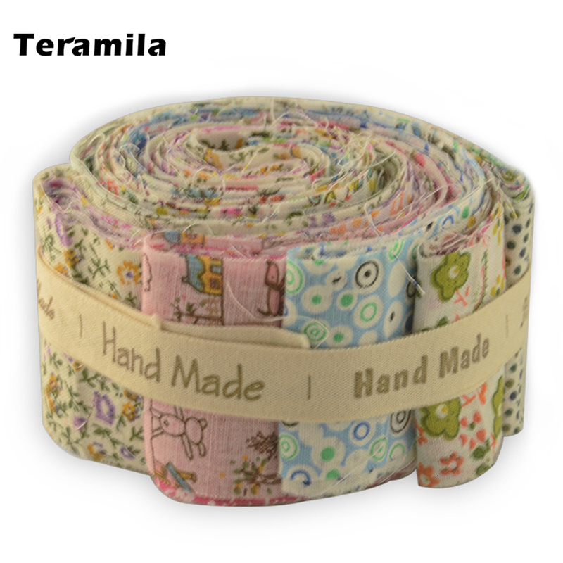 Teramila 100% Cotton Fabric Printed Flower 5x50CM Jelly Roll Strips 6-9 Pcs/Lot Telas DIY Patchwork Cloth Tissus Quilts Craft