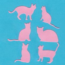6 Cats Dies Cutting Metal for Scrapbooking Craft Card Embossing Die Cut New Template Stencil