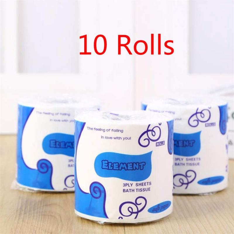 10 Rolls Smooth Soft Professional Series Premium 3-Ply Toilet Paper Home Kitchen Primary Wood Pulp Toilet Tissue Paper Towels