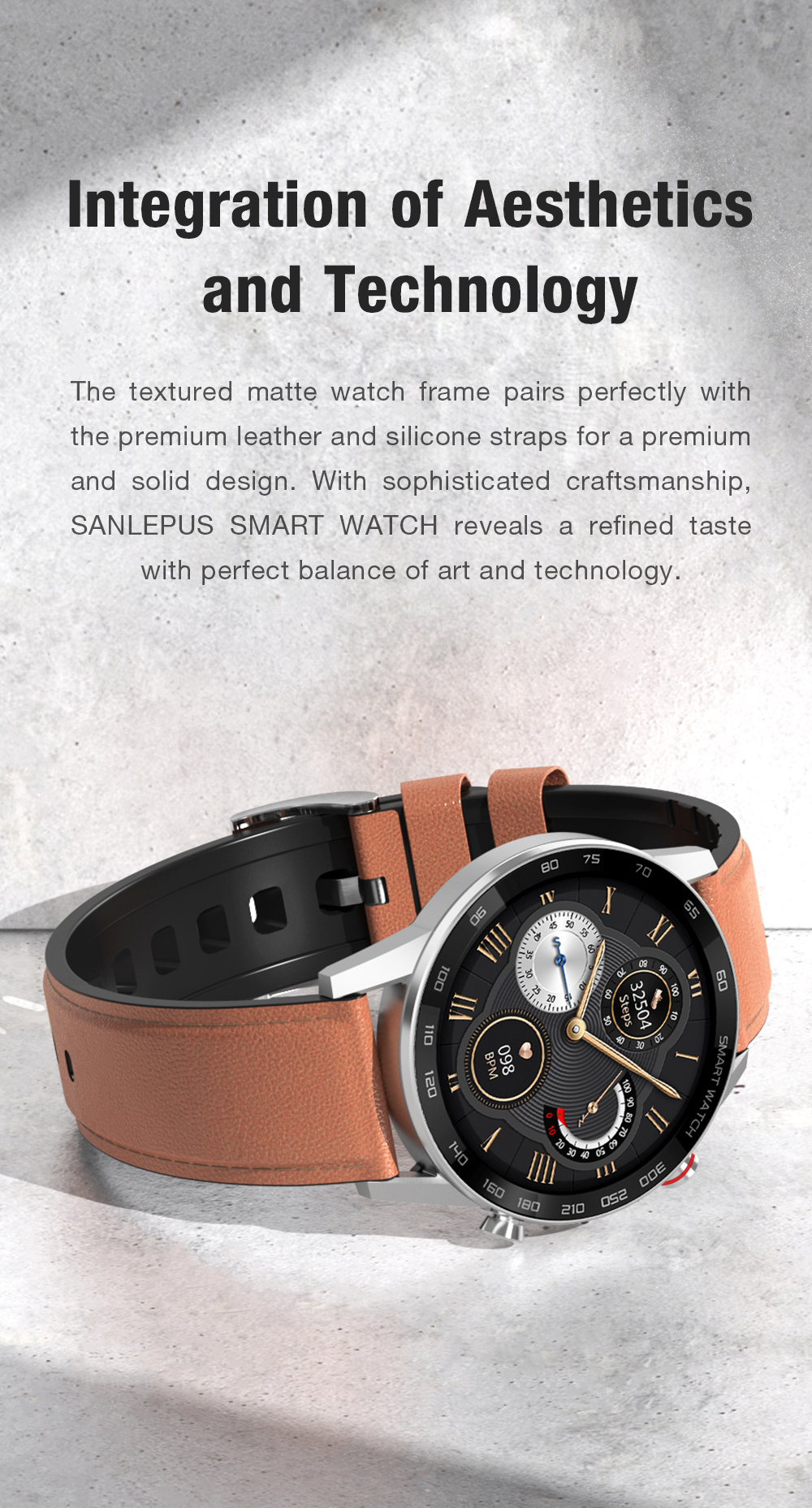 H04a6080614bf416982a11c96975ac483b 2021 SANLEPUS ECG Smart Watch Dial Call Smartwatch Men Sport Fitness Bracelet Clock Watches For Android Apple Xiaomi