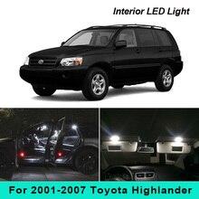 Interior-Package-Kit License-Plate-Lights Toyota Highlander 2001-2007 Pure-White 10pcs