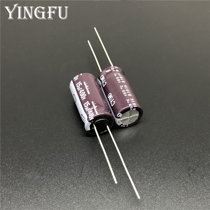 5pcs/50pcs 15uF 400V NICHICON CY Series 10x20mm High Ripple Current Long Life 400V15uF Aluminum Electrolytic Capacitor