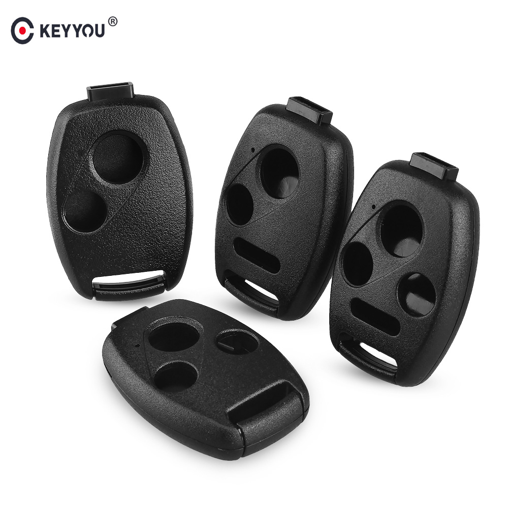 KEYYOU Car Key Case Shell Remote Fob Cover For HONDA Accord CRV Pilot Civic 2003 2007 2008 2009 2010 2011 2012 2013 With LOGO
