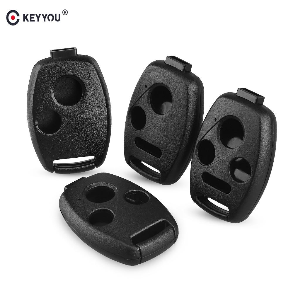 KEYYOU Car Key Case Shell Remote Fob Cover For HONDA Accord CRV Pilot Civic 2003 2007 2008 2009 2010 2011 2012 2013 With LOGO