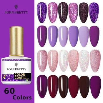 BORN PRETTY 60Colors Gel Nail Polish 10ml  Nail ColorSoak Off UV Gel Glitter Semi-Permanant Base Top Coat Nail Art Varnish недорого