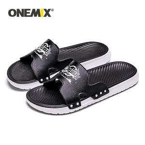 Image 5 - ONEMIX Summer Men Beach Sandals Casual sandals Men Or Women Slippers Indoor Outdoor Women Wading Flats Shoes Men 2019 New