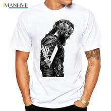 T Shirts KING Ragnar Lothbrok Vikings Man Organnic 100% Cotton Short Sleeve Tee Hot Round Collar T-Shirt Design