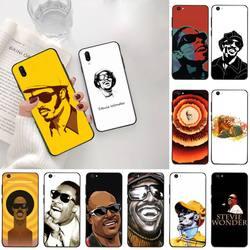 Cantor de música stevie maravilha preto tpu capa de telefone macio para vivo y91c y17 y51 y67 y55 y7s y81s y19 v17 vivo s5