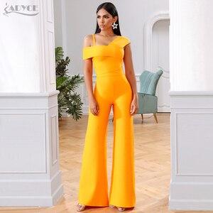 Image 1 - Adyce 2020 חדש קיץ תחבושת סטי נשים שמלת Vestido פסים חולצות & מכנסיים 2 שתי חתיכות סט הלילה החוצה סלבריטאים ערב מסיבת סטים