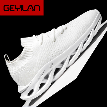 2019 Light Weight Men Casual Shoes Mesh Breathable Weaving Male Flats Shoes White Black Solid Outdoor Walking Sneakers Men