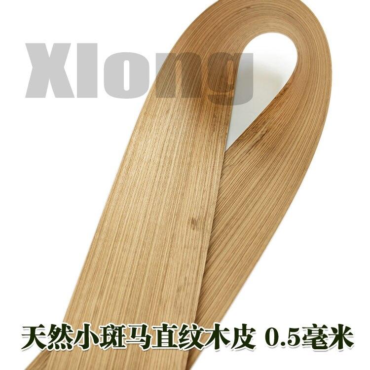 L:2.5Meters Width:170mm Thickness:0.5mm Zebra Straight Grain Wood Skin Small Zebra Wood Skin Natural Solid Wood Spot Horse Wood