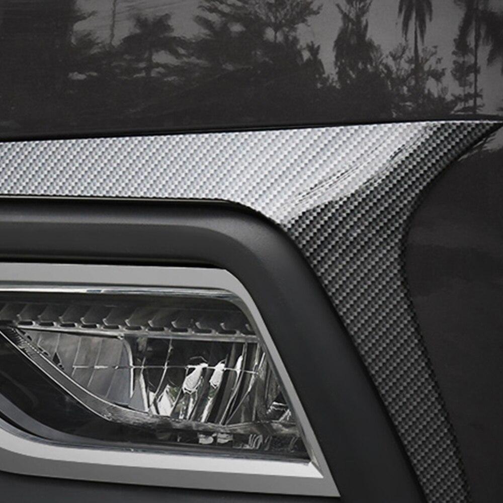 Для Volkswagen VW Atlas 2017-2019 Авто Передние противотуманные фары светильник Рама Накладка Стикеры хром внешние аксессуары