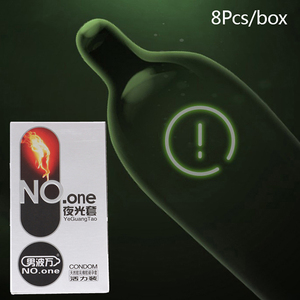 8PCs Fluorescence Condoms Penis Glow In The Dark Condoms Intimate Goods Sex Products Ultra Thin Safer Sex Condoms For Men