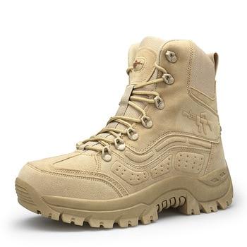 Botas militares de desierto para hombre zapatos de senderismo impermeables para exteriores zapatillas deportivas antideslizantes