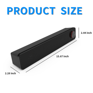 Image 2 - Smalody Soundbar 10W Computer Speaker 3.5mm Wired Speaker HiFi Stereo Sound Bar USB Powered Speakers for Laptop Computer Phones