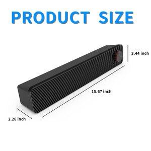 Image 2 - Smalody Soundbar 10W bilgisayar hoparlör 3.5mm kablolu hoparlör HiFi Stereo ses çubuğu USB Powered hoparlörler dizüstü bilgisayar için telefonları
