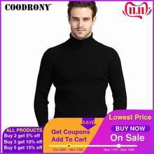 Свитер COODRONY мужской кашемировый, плотный теплый, с высоким воротником, приталенный, классический, вязаный, зимний