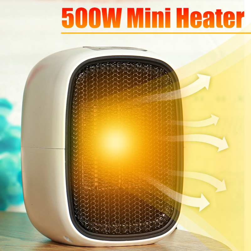 500W Mini Portable Electric Heater US Plug Personal Space Warmer for Indoor Heating Camping Any Place Adjustable Thermostat 220V|Electric Heaters| |  -