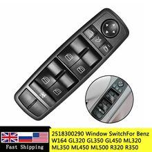 2518300290 interruptor de janela de carro master potência, a2518300290 a 251 830 0290 para benz w164 gl320 gl350 gl450 ml320 ml350 ml450 r320 r350