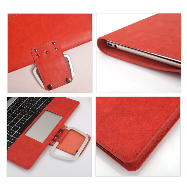 PU leather Multi-functional Case for MacBook 5